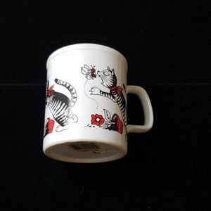 Vintage cat mug Japan